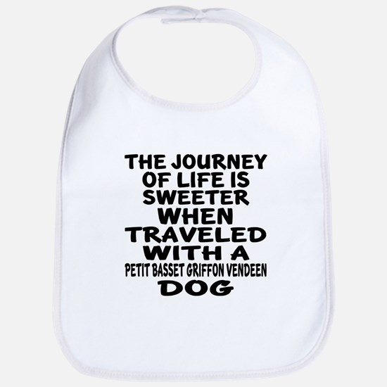 Traveled With petit basset griffon Cotton Baby Bib