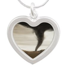 tornado - Silver Heart Necklace