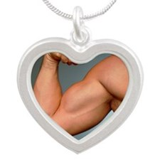 by athletic young man - Silver Heart Necklace