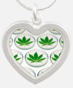 Cannabis research - Silver Heart Necklace