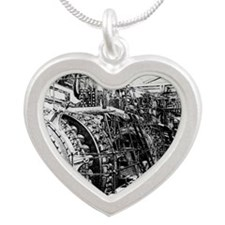 a 19th C. power station - Silver Heart Necklace