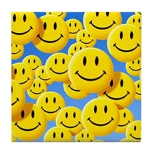 Smiley face symbols - Tile Coaster