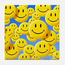 Smiley face symbols - Tile Coaster