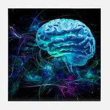 Brain research, conceptual artwork - Tile Coaster