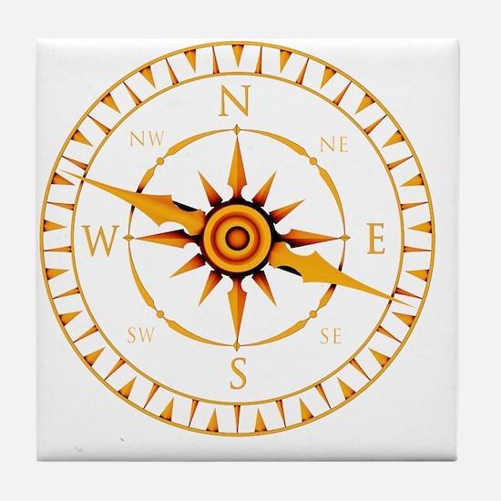 Compass rose - Tile Coaster