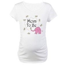 Mom To Be (pink elephant) Shirt