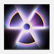 Radiation warning sign - Tile Coaster