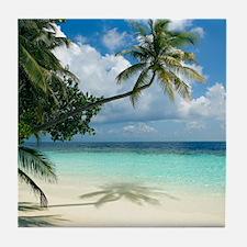 Tropical beach - Tile Coaster
