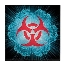 Biohazard symbol and virus - Tile Coaster