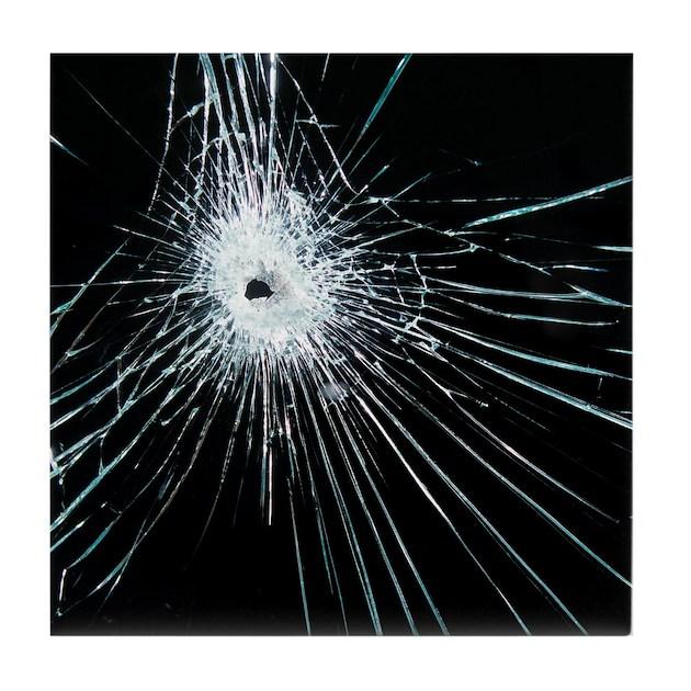 Broken Glass Tile Coaster By Sciencephotos