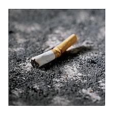Cigarette butt and ash - Tile Coaster