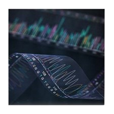DNA analysis - Tile Coaster
