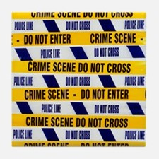Crime scene tape - Tile Coaster