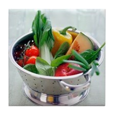 Fruit and vegetables - Tile Coaster