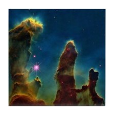 Gas pillars in the Eagle Nebula - Tile Coaster