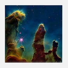 Gas pillars in the Eagle Nebula - Tile Coaster