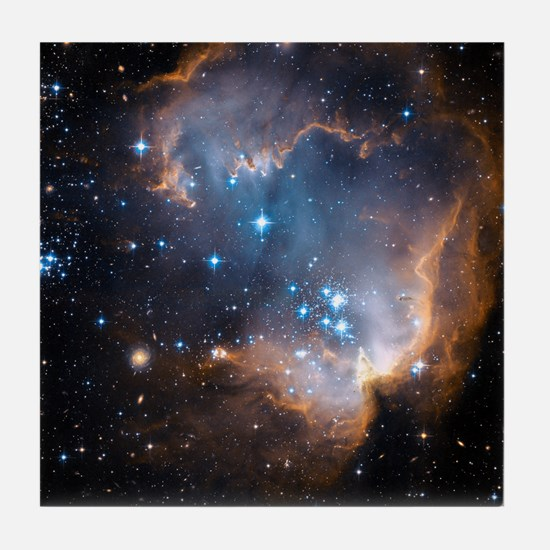 Starbirth region NGC 602 - Tile Coaster