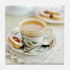 Tea and biscuits - Tile Coaster