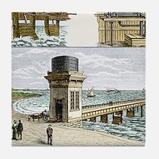 19th-century wave power - Tile Coaster