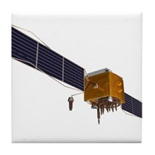 GPS satellite, artwork - Tile Coaster