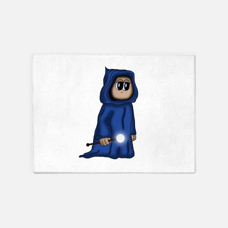 cute Gnome Mage 5'x7'Area Rug