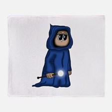 cute Gnome Mage Throw Blanket