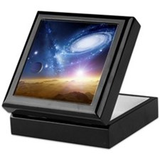 Colliding galaxies, artwork - Keepsake Box