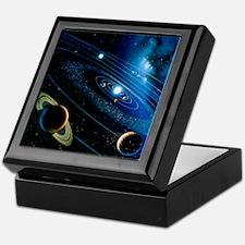 Artwork of the solar system - Keepsake Box