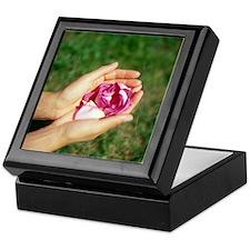 Flower held in hands - Keepsake Box