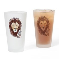 Peek-a-boo lamb with lion Drinking Glass