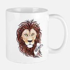 Peek-a-boo lamb with lion Mug