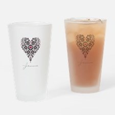 Love Jenna Drinking Glass