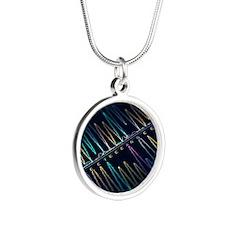 DNA analysis - Silver Round Necklace