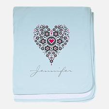 Love Jennifer baby blanket