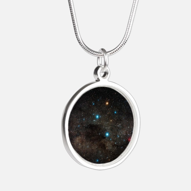Crux constellation - Silver Round Necklace