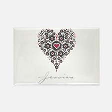 Love Jessica Rectangle Magnet