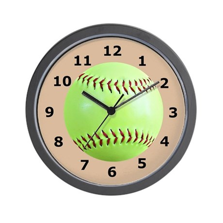 Softball Gift Wall Clock Wall Clock
