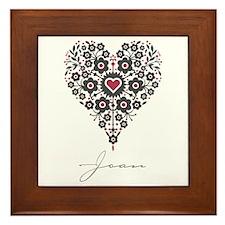 Love Joan Framed Tile