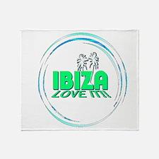 Ibiza I Love It Throw Blanket
