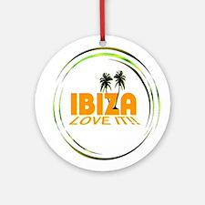 Ibiza I Love It Art Illustration Ornament (Round)