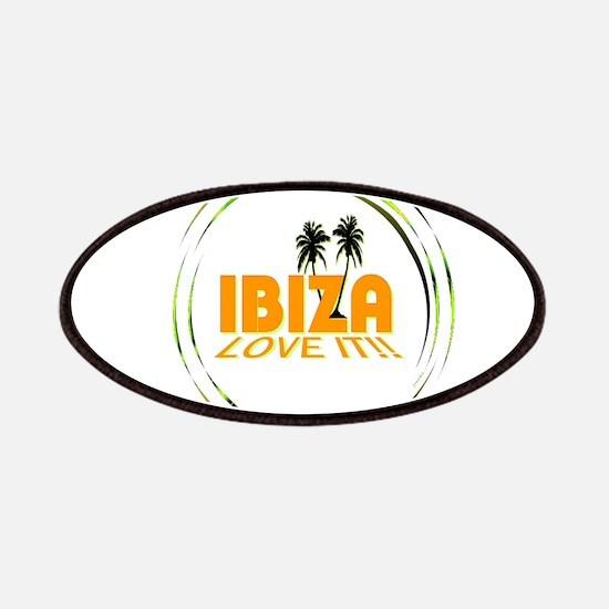 Ibiza I Love It Art Illustration Patches