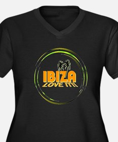 Ibiza I Love It Art Illustration Plus Size T-Shirt