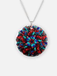 Bluetongue virus, artwork - Necklace