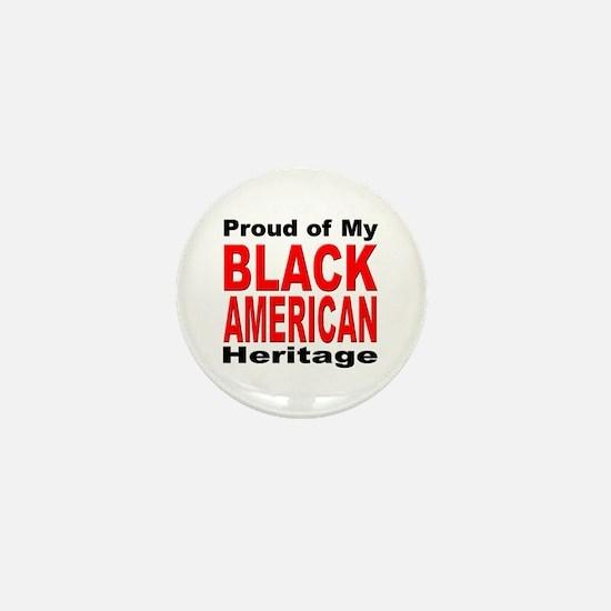 Proud Black American Heritage Mini Button