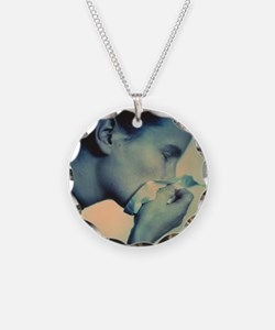 Blowing nose - Necklace Circle Charm