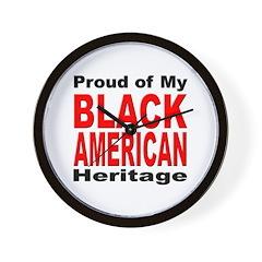 Proud Black American Heritage Wall Clock