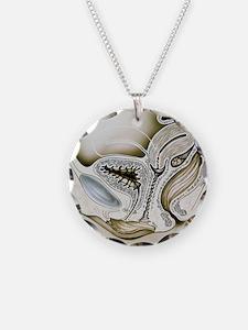 the uterus - Necklace Circle Charm
