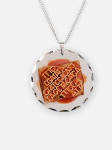 GM food, conceptual image - Necklace Circle Charm