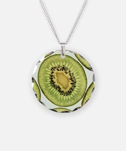 Kiwi fruit - Necklace Circle Charm