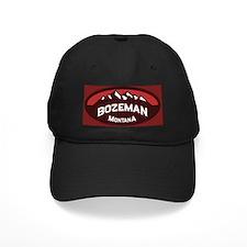 Bozeman Logo Red Baseball Hat
